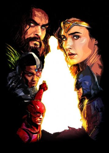 JUSTICE LEAGUE AMERICA - FAN ART 2 canvas print - self adhesive poster - photo print